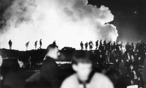 The Aberfan disaster rescue attempt, 22 October 1966