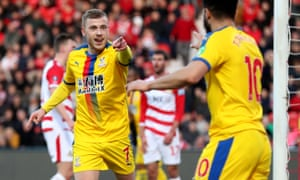 Crystal Palace's Max Meyer celebrates after he scores to put his side 2-0 up