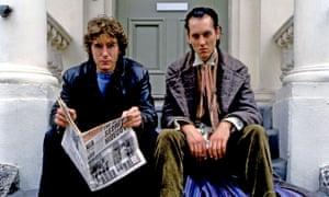 Feverish hilarity … De Abaitua draws on Withnail and I, starring Paul McGann, left, and Richard E Grant.
