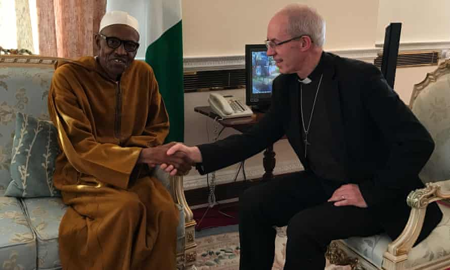Buhari meets Welby in London.