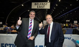 DUP politicians Gavin Robinson and Nigel Dodds