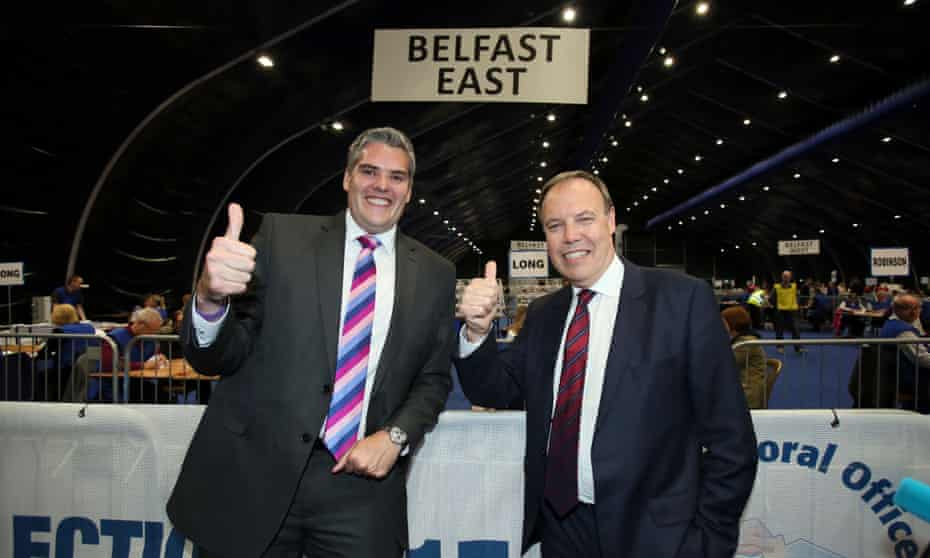 DUP politicians Gavin Robinson and Nigel Dodds
