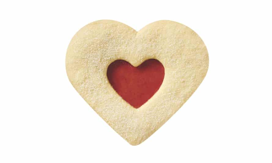 Shortbread jammy heart from groceries.morrisons.com