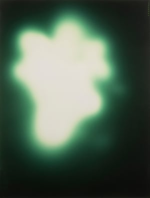 1992Untitled (Uranium Green) by Sigmar Polke.