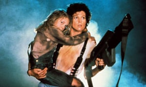 Strong female role model … Sigourney Weaver as Ripley with Carrie Henn as Newt.