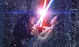 Adam Driver and Daisy Ridley in Star Wars: Episode VII – The Force Awakens.