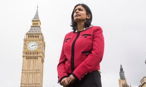 Rupa Huq in front of the Houses of Parliament