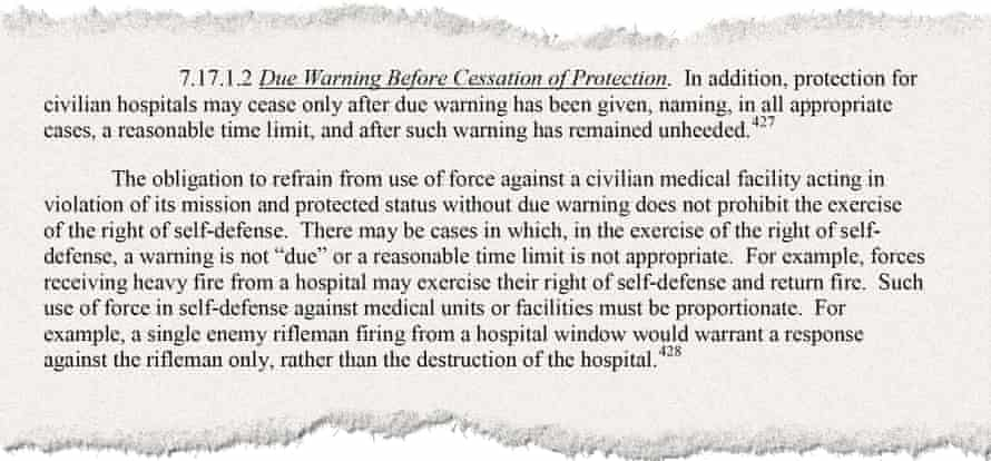 Extract from the US Defense Department law of war manual.
