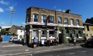 The Griffin Pub by Griffin Park.