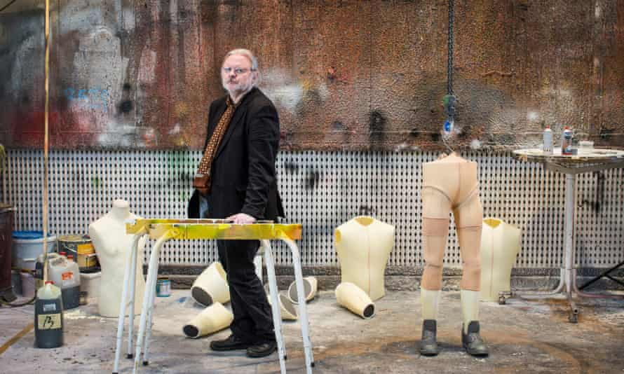 Jon Fosse in the prop department of a theatre in Norway.