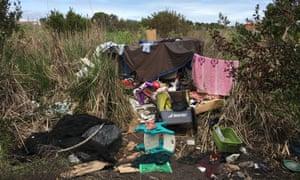 A homeless encampment near Facebook headquarters.