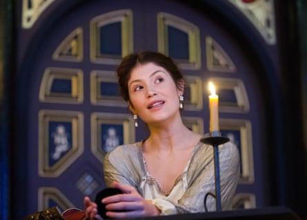 Gemma Arterton in The Duchess of Malfi at the Sam Wanamaker Playhouse in 2014.