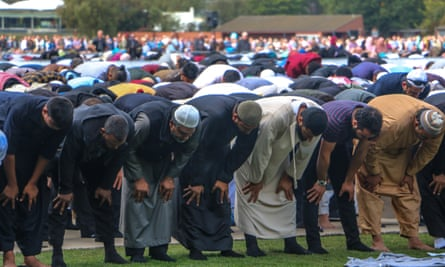 A week after the attacks, Muslims performed Friday prayers at Hagley Park in Christchurch.