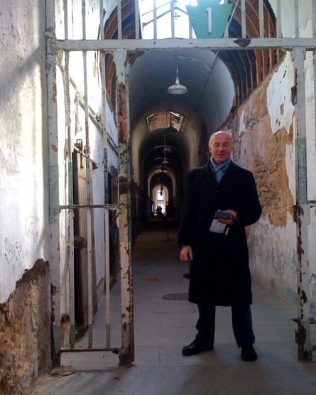 Roger Matthews visiting the Eastern state penitentiary, Philadelphia