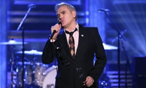 Morrissey wears a For Britain pin while performing on US television