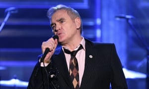 Badge of dishonour … Morrissey sporting a For Britain badge on The Tonight Show.