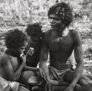 Narran and his sons in Liverpool River, Arnhem Land, Northern Australia, 1952, taken by Axel Poignant.
