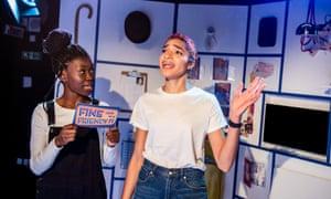 Tanisha Spring (Cassi) and Olivia Onyehara (Simone) in Shuck 'n' Jive