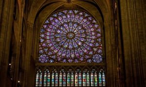 The north rose window of Notre Dame.