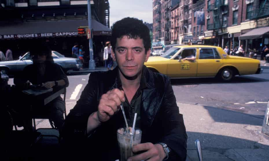 Lou Reed at Cafe Figaro, Greenwich Village, 1982.