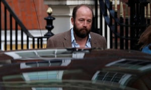 Nick Timothy leaves Conservative party headquarters the day after June's general election.