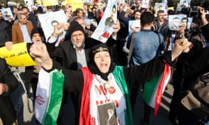 Tens of thousands of government supporters rallied in Tehran to counter the opposition protests.