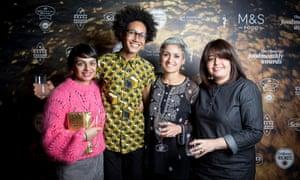 Meera Sodha, Zoe Adjonyoh, Chetna Makan and Romy Gill at the Observer Food Monthly Awards 2018.