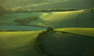 The South Downs national park near Wilmington, East Sussex.