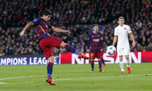 Suarez volleys home the third