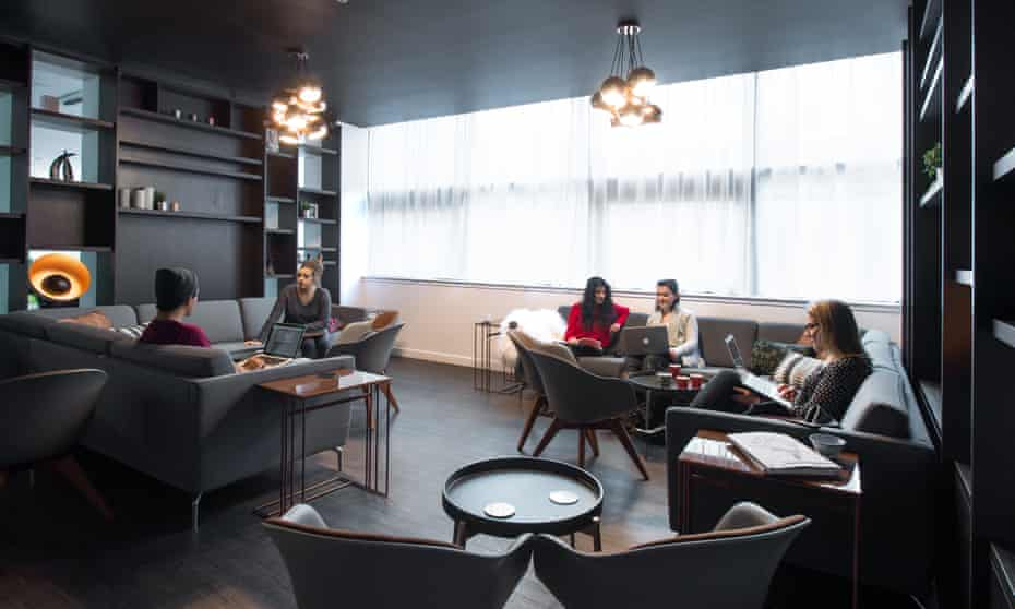 The Bo Concept-designed lounge in Glasgow's Clifton House student accommodation.