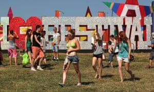 Festivalgoers at Bestival 2013