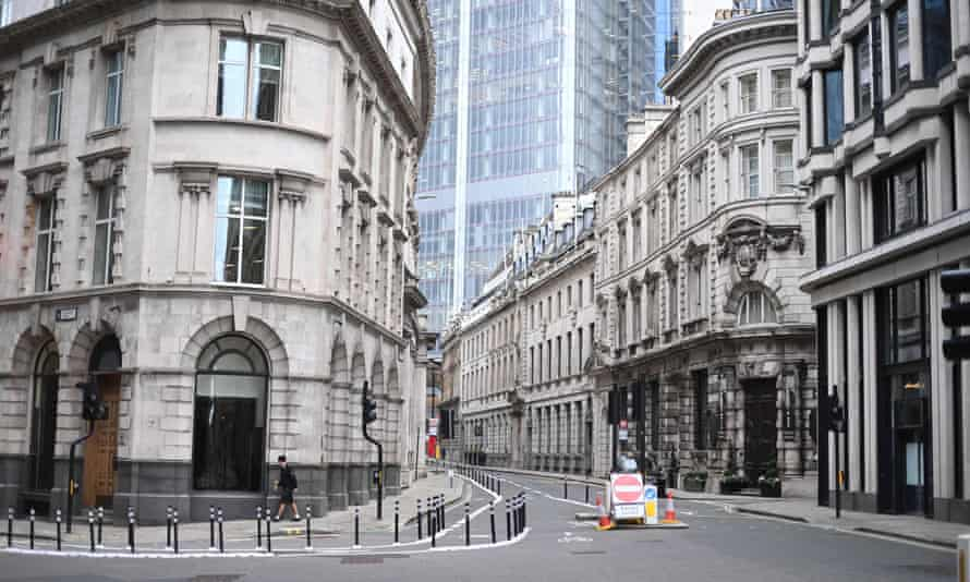 An empty street in the city of London