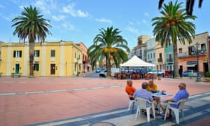 Bars in the Piazza Umberto, Sant'Antioco