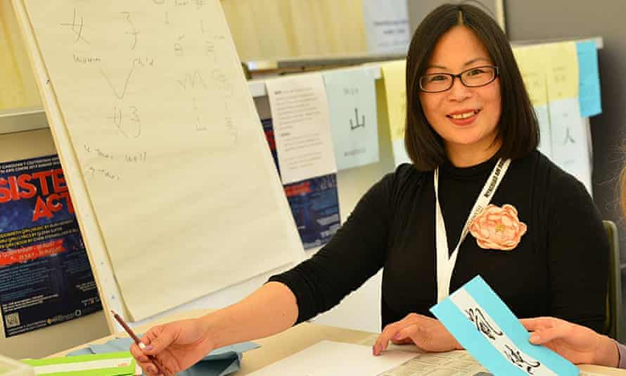 Su Chu Lu, who has been running her stall in the Market Hall for 15 years, had just returned from Taiwan to Aberystwyth.
