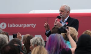 Jeremy Corbyn, seen here at a campaign event in Blyth, north-east England, on 5 June.