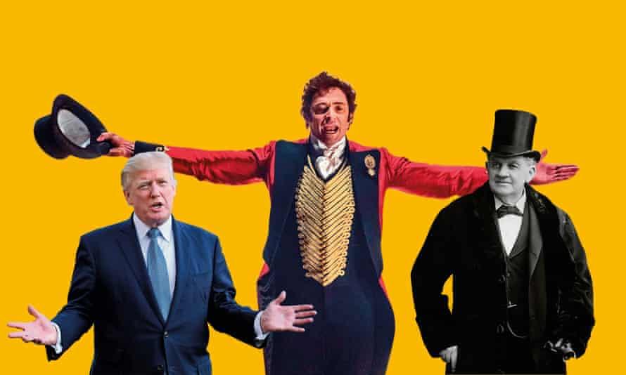Donald Trump, Hugh Jackman and PT Barnum