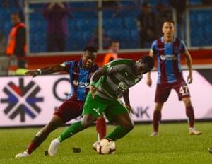 Henri Saivet, centre, is playing in the Turkish Super Lig