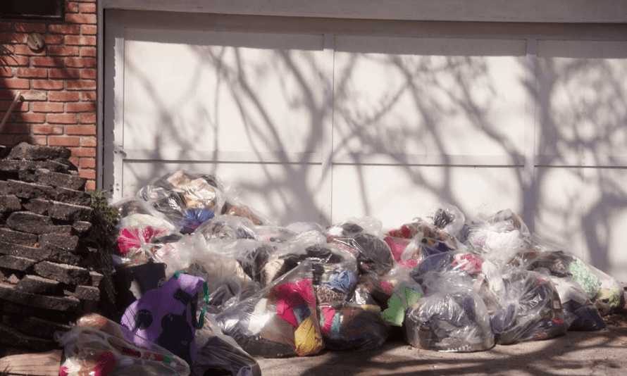 'We estimated 150 bags of trash have left this house.' The garbage collected by Wendy and Ron Akiyama in the second episode of Tidying Up with Marie Kondo