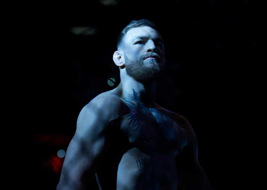 Conor McGregor of Ireland enters the Octagon before facing Eddie Alvarez in their UFC lightweight championship fight during the UFC 205 event at Madison Square Garden