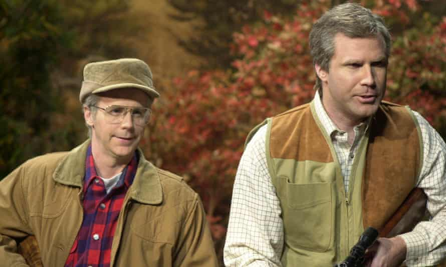 Dana Carvey as George Bush, Will Ferrell as George W Bush in an SNL skit from October 2000.