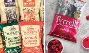 Mackie's and Tyrells crisps