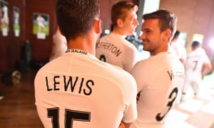 The New Zealand players prepare for their first fixture, against hosts Russia on Saturday.