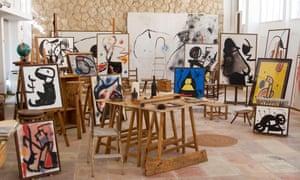 Joan Miró's Mallorcan studio, designed by the architect Josep Lluís Sert.