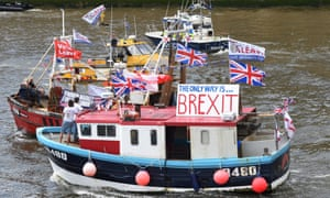 The Brexit flotilla of trawlers on the Thames