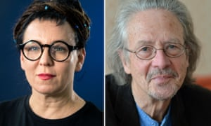 The winners of the 2018 and 2019 Nobel prizes in literature, Olga Tokarczuk and Peter Handke