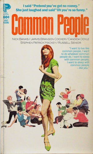 Common People by Pulp reinvented as a pulp fiction book cover by graphic artist Todd Alcott.
