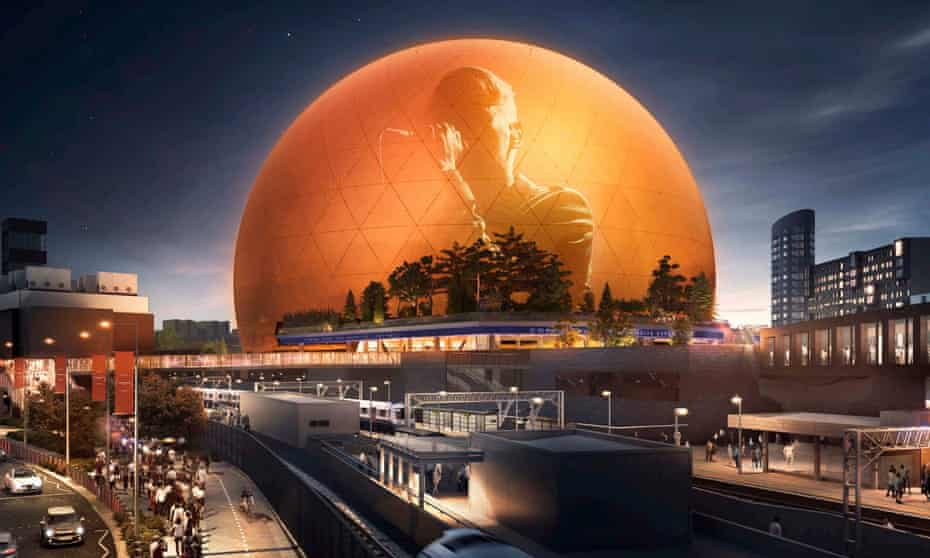 MSG Sphere, a planned concert venue for Stratford, east London.