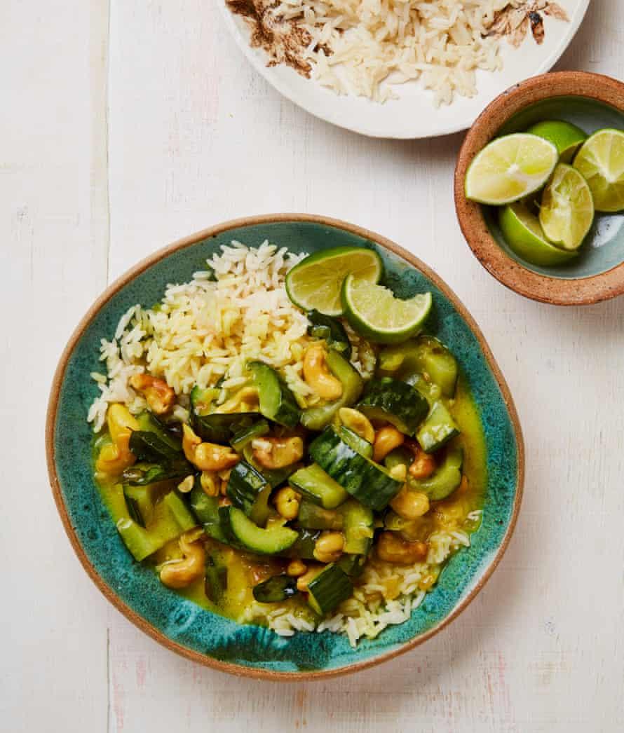 Meera Sodha's Sri Lankan cucumber and cashew curry.
