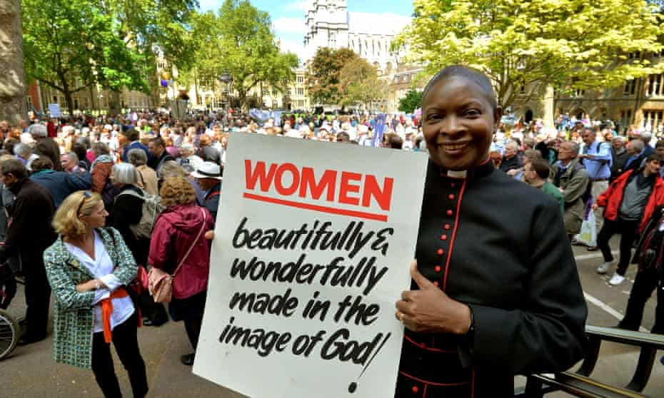 Rose Hudson-Wilkin in 2014 in Westminster to mark the 20th anniversary of the ordination of the C of E's first female priests.