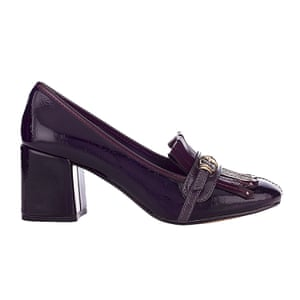 Burgundy heeled loafers Marks and Spencer